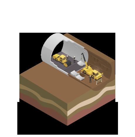 gallerie fase di costruzione