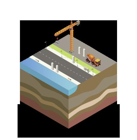 ponti fase di costruzione