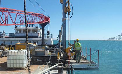 Indagini geotecniche nel porto di Taranto miniatura